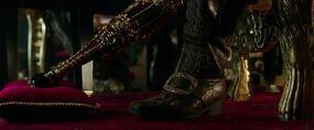 Golden peg leg