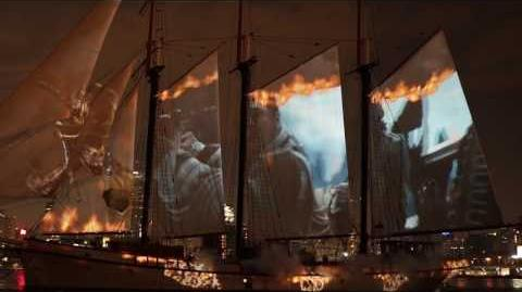PIRATES OF THE CARIBBEAN DEAD MEN TELL NO TALES - Ghost Sailors Take Over Ship in Toronto Harbour