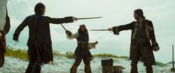 Isla Cruces duel 1