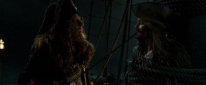 Barbossa threatens Jack