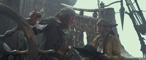 Cabin Boy and Barbossa
