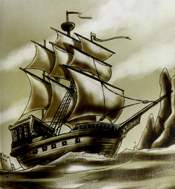 Ghost captain's ship