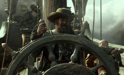 Morgan at the helm