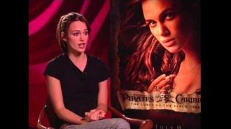 """Pirates of the Caribbean Keira Knightley """"Elizabeth Swann"""" Exclusive Interview"""