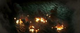 Silent Mary vs Barbossa's fleet