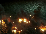 Destruction of Barbossa's fleet