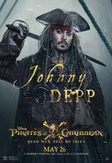 Johnny Depp POTC5 poster