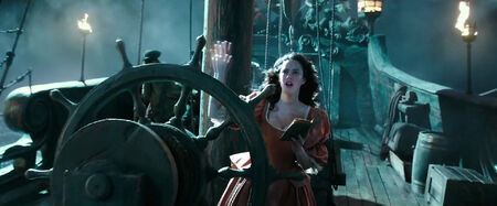 Carina Smyth at the helm