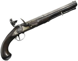 Pirate Pistol Gun in Silver and Black