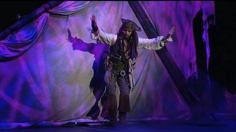 Johnny Depp as Captain Jack Sparrow at the Disney D23 Expo