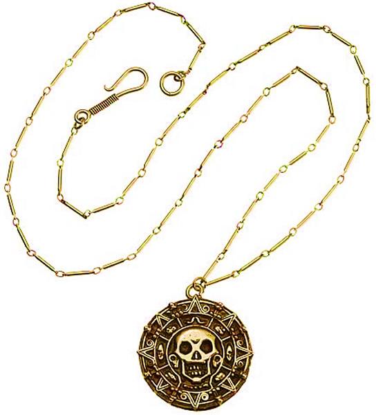 Caribbean Pirates Treasure Aztec Skull