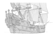Concept art - Pirate Teague's ship