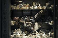 Jack sleeps in a Bank safe