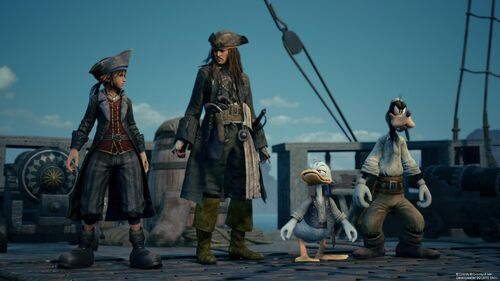 KHIII Sora Jack Donald and Goofy
