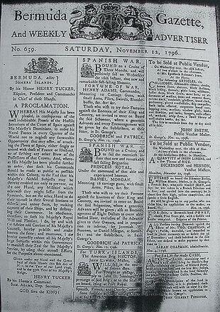 423px-Bermuda Gazette - 12 November 1796