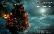 Blackbeards ship the queen annes revenge pirates of the caribbean on stranger tides 2011-wide