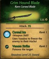 Grim hound blade