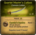 Quarter Master's Cutlass Card