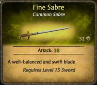 Fine Sabre