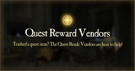 Spotlight Quest Reward Vendors