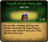 Fourth of July Party Hat