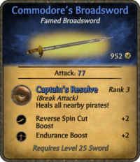 Commodore's Broadsword