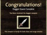 Weapon Unlock: Dagger
