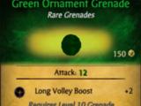 Green Ornament Grenade