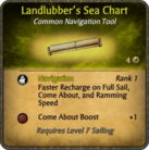 Landlubber's Sea Chart Card