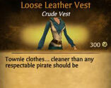F Loose Leather Vest