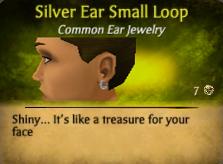 SilverEarSmallLoopFemale