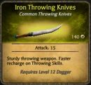 Iron Throwing Knives