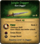 Jungle Dagger Card