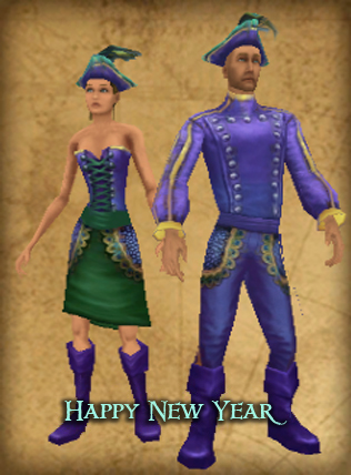 07dbc481bf6b The New Year's Day Outfit, also known as Peacock is a matching outfit  offered for purchase by the Peddlers on the main islands Padres Del Fuego,  Cuba, ...