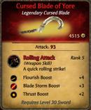 Cursed Blade of Yore