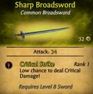 Sharp Broadsword