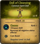 Doll of Cleansing Card