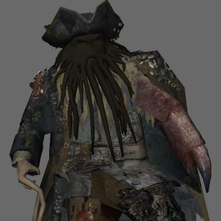 An unfinished model of Davy Jones.