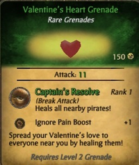 Valentine's Heart Grenade Card