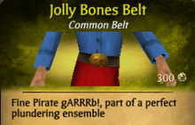 Jolly Bones Belt - clearer