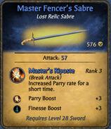 Master Fencer's Sabre