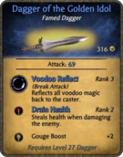 Dagger of the Golden Idol Card