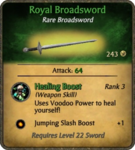 Royal Broadsword Card