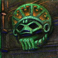 Another Aztec prop that was likely littered across the island's aztec areas.