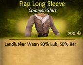 Flap Long Sleeve