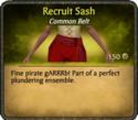 Recruit Sash Card