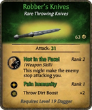 Robber's Knives Card