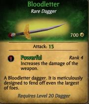 Bloodletter dagger