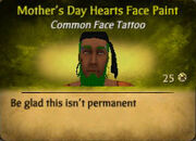 Mother'sDayHeartsFaceTattoo