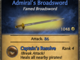 Admiral's Broadsword